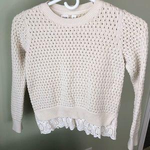 Gap kids BEAUTIFUL cream knit sweater girls sz M